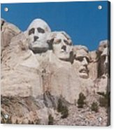 Workers On Mt. Rushmore Acrylic Print