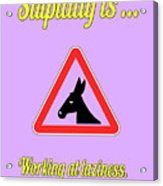 Working Bigstock Donkey 171252860 Acrylic Print