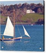 Working Boat At Trelissick Cornwall Acrylic Print