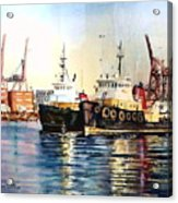 Working Boats -seattle  Acrylic Print