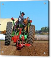 Working His Plow  Acrylic Print