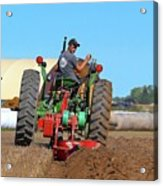 Working His Plow Two  Acrylic Print