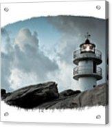 Working Lighthouse Isolated On White Acrylic Print