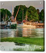 Working Waterfront Acrylic Print