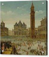 Workshop Of Caullery, Louis De Caulery Circa 1580 - 1621 Antwerp Carnival In Venice. Acrylic Print