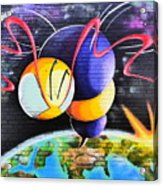 World Color Bee Acrylic Print
