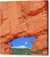 World-famous Pikes Peak Framed By What We Call The Keyhole  Acrylic Print