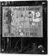 World Famous Sunken Gardens Acrylic Print