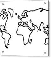 World Globe Acrylic Print