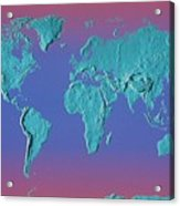 World Land Mass Map Acrylic Print by Vladimir Pcholkin