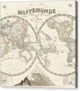 World Map - 1842 Acrylic Print
