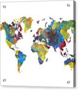 World Map 2050 Digital Art By Justyna Jbjart