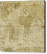 World Map Antique Style Acrylic Print by Michael Tompsett