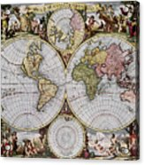 World Map, C1690 Acrylic Print