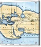World Map: Eratosthenes Acrylic Print