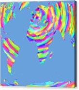 World Map Radial Eurocentric Acrylic Print