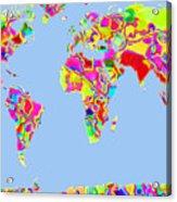 World Map Viscous Acrylic Print