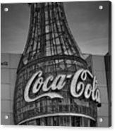 World Of Coca Cola Bw Acrylic Print