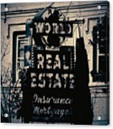 World Real Estate Chicago Acrylic Print
