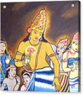 World Renowned Ajanta Painting  Acrylic Print