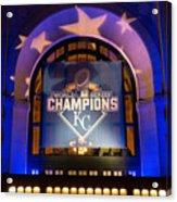 World Series Champs Acrylic Print