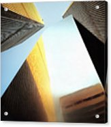 World Trade Center Towers And The Ideogram 1971-2001 Acrylic Print