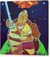World Turtle King Of Swords Acrylic Print