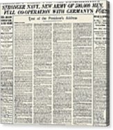 World War I: Declaration Acrylic Print
