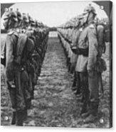 World War I: German Troop Acrylic Print by Granger