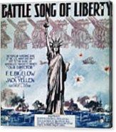World War I: Song Sheet Acrylic Print