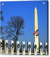 World War II Memorial And Washington Monument Acrylic Print