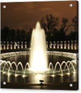 World War II Memorial At Night Acrylic Print