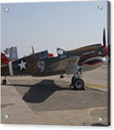World War II Plane P-40 Thunderbolt Acrylic Print
