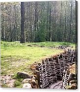 World War One Trenches Acrylic Print