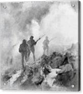World War Two Battle By John Springfield Acrylic Print