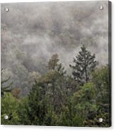 Worlds End State Park Fog Acrylic Print