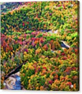 Worlds End State Park Lookout 3 - Paint Acrylic Print