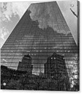 World's Largest Canvas John Hancock Tower Boston Ma Black And White Acrylic Print