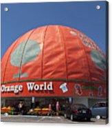 World's Largest Orange Acrylic Print