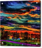 World's Most Psychedelic Autumn Sunsset Acrylic Print