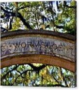 Wormsloe Plantation Isle Of Hope Ga 2 Acrylic Print