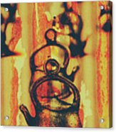 Worn And Weathered Kettles Acrylic Print