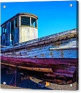 Worn Weathered Boat Acrylic Print