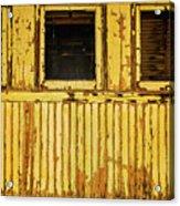 Worn Yellow Passanger Car Acrylic Print
