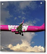 Wow Air Airbus A321-211 Acrylic Print