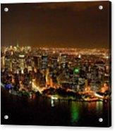 Wow  New York City At Night Acrylic Print