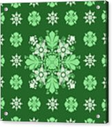 Wrapping Wallpaper Floral Seamless Tile For Website Vector, Repeating Foliage Outline Floral Western Acrylic Print