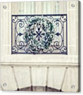 Wreath And Stone Acrylic Print