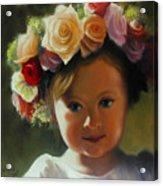 Wreath Of Roses Acrylic Print