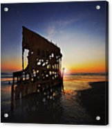 Wreck Of The Peter Iredale-b Acrylic Print